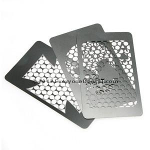 Credit Card Herb Grinders Stainless Steel
