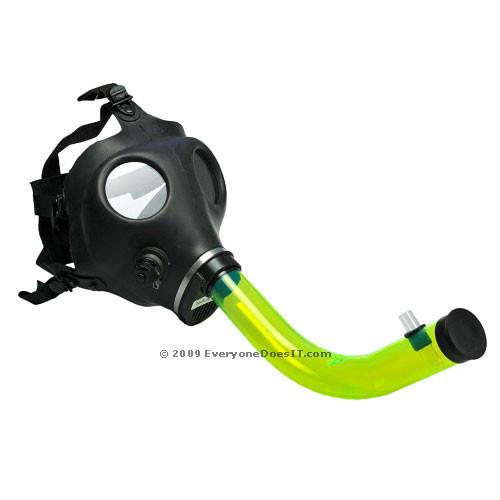 Gas Mask Bong Acrylic Tube