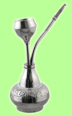 Metal Moroccan Water Pipe Large