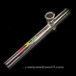 Rasta Steam Roller Glass Pipe