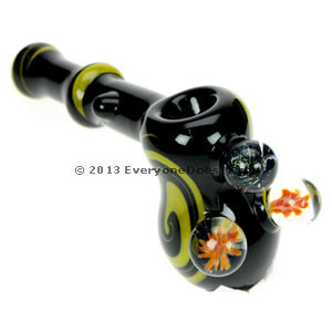 Triple Marble Glass Hammer Pipe