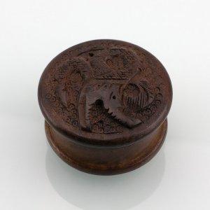 Wooden Herb Grinder Carved Dragon