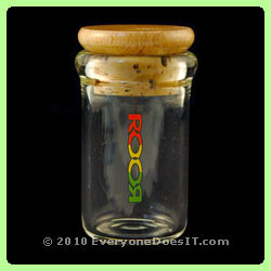 XL Stash Jar with Corked Lid Rasta Logo