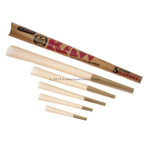 5 Stage Rawket Rolling Paper Cones