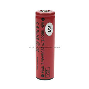 AW Battery 18650 2200mAh