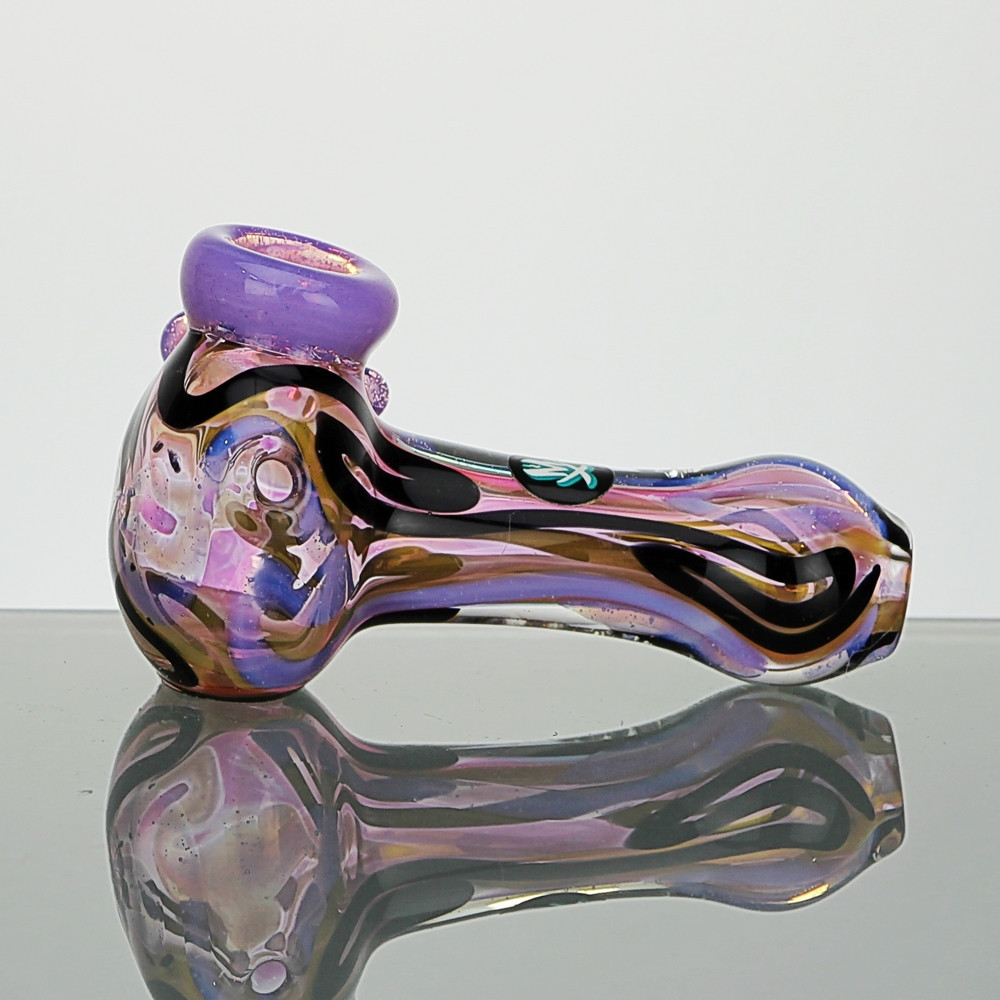 Colour Changing Glass Spoon Pipe With Inside Out Design