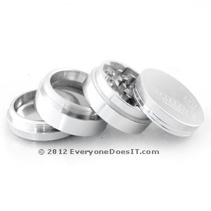 Flame Top Metal Grinder/Sifter Small Silver