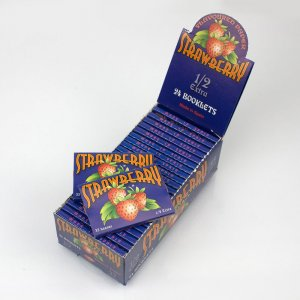 Flavored Rolling Papers Regular Size Single Pack Strawberry