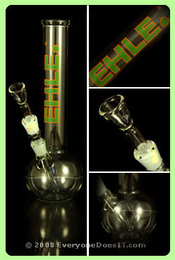 Glass Bong 3.2mm Straight Ball Clear