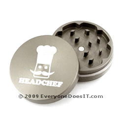 Hard-Anodized Grinder 2-Piece Gray