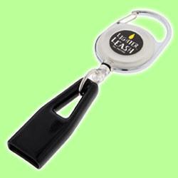 Lighter Leash Retractable Lighter Holder Premium Carabiner Clip