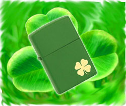 Lighter Lucky Four Leaf Clover