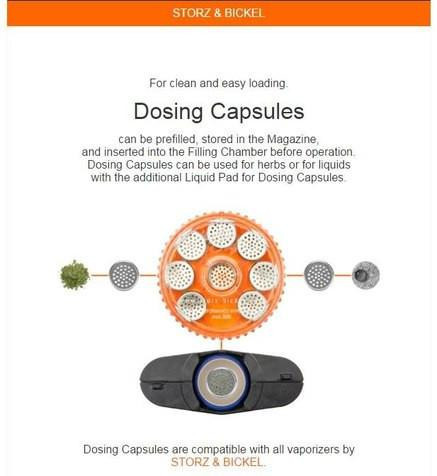 Magazine with 8 Dosing Capsules