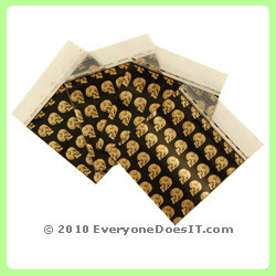 Mini Baggies Gold Skulls Pack of 100