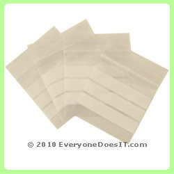 Mini Baggies White Stripes Pack of 100