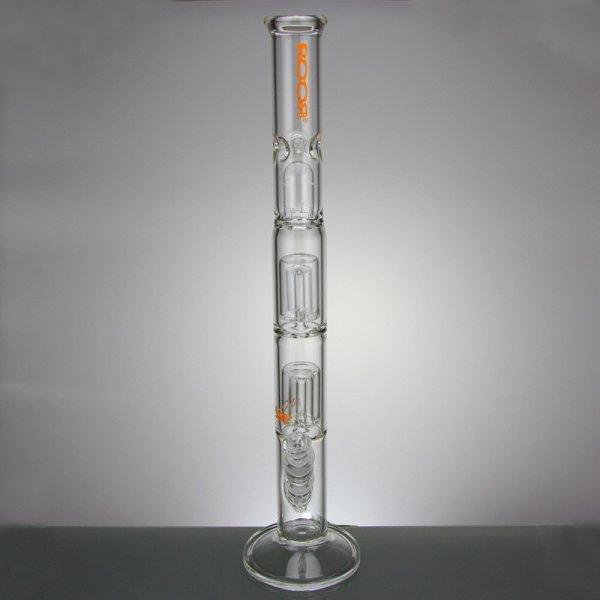 Mini Straight Tube Double Barrel Perc Orange