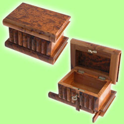 Moroccan Thuya Wood Secret Key Stash Box