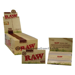 Organic Hemp Single Wide Rolling Papers Double Packs