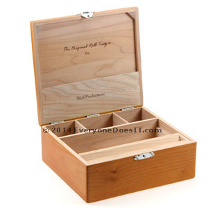 Original Rolling Tray T3L Deluxe Maple Wood