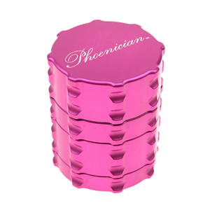 Pink 4-Piece Herb Grinder Sifter 44mm