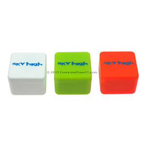 Sky High Small Square Silicone Jars