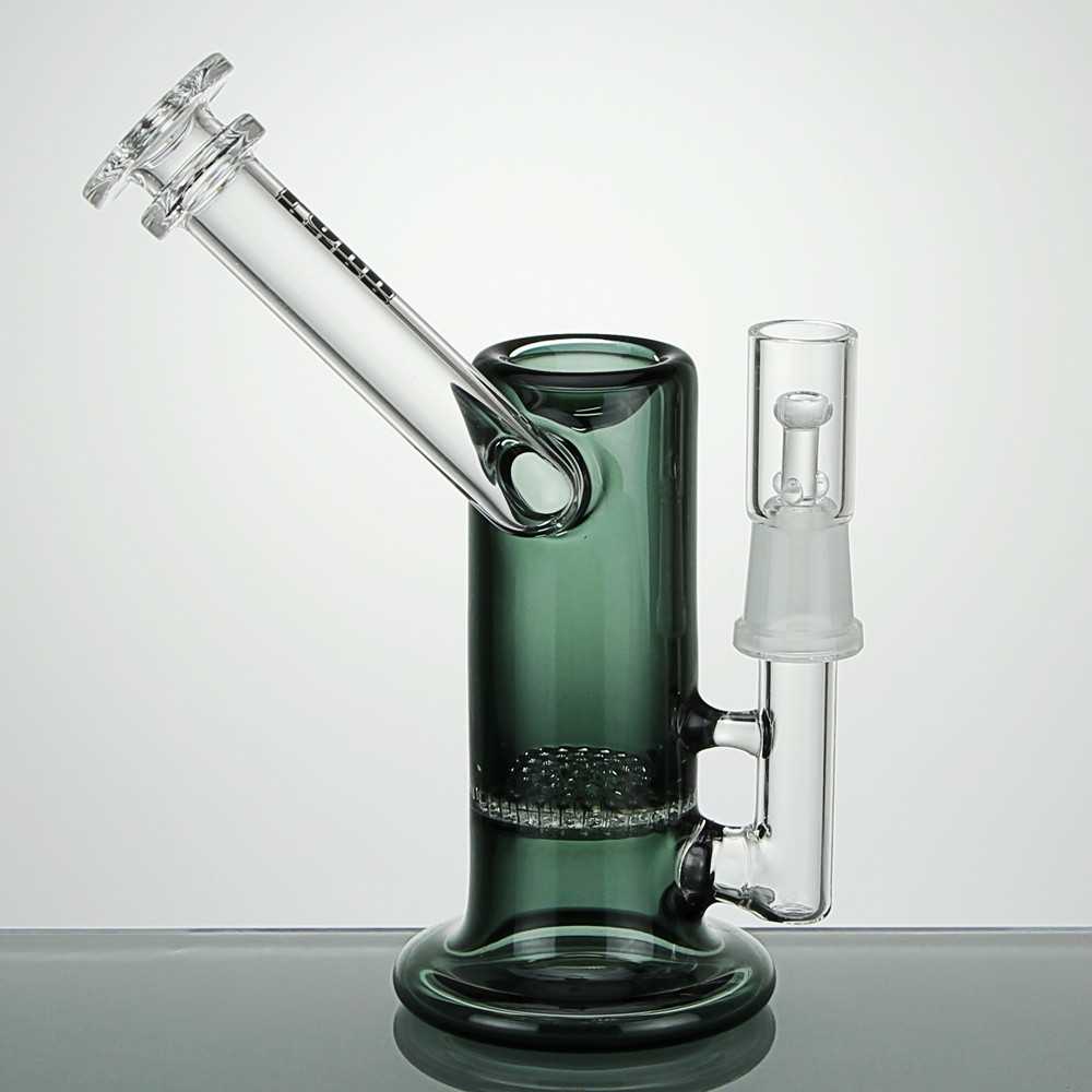 Stemless Sidecar Dab Rig With Honeycomb Perc