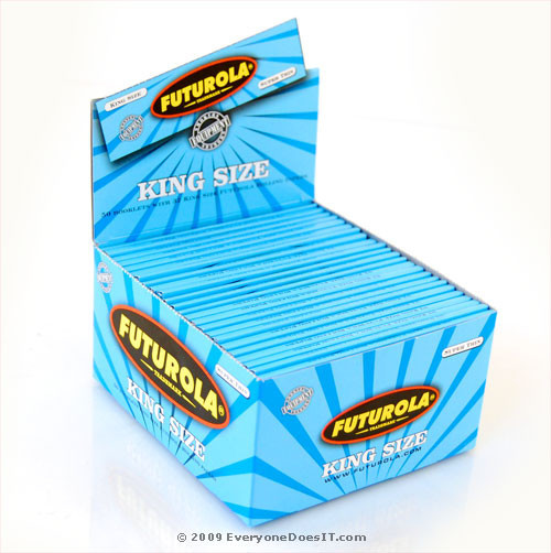 Super Thin Blue King Size Rolling Papers