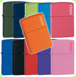 Zippo Lighter Matte Selection
