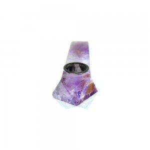 """4""""  Handmade Crystal Herb Pipe - Amethyst"""