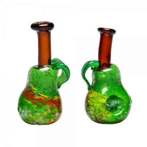 Pear handpipe with carb hole